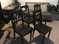 4 solid wood  chairs Vancouver, V6K 1L1