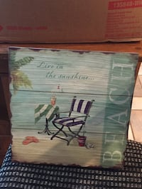 black and white stripe camping chair print board