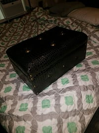 Small leather chest
