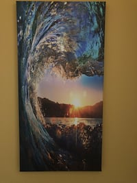 Ocean wave wrapped canvas print  Point Pleasant, 08742