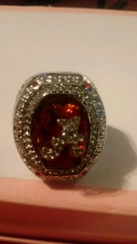 silver and red gemstone ring Springfield, 31329