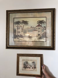 two brown wooden framed painting of trees Los Angeles, 91367