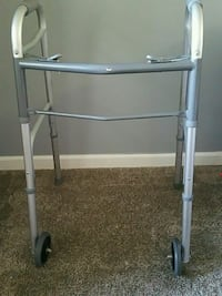 gray and chrome adult walker