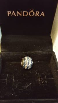 silver-colored ring with clear gemstones Vaughan