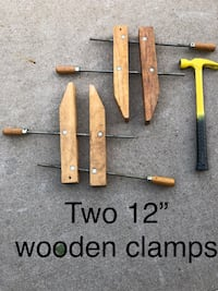 "Two wooden clamps 12"" Indianola, 50125"