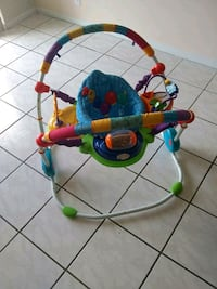 baby's blue and green jumperoo Miami Beach, 33141