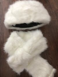 white and black fur coat Laval, H7R 5A8