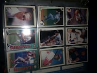 nine assorted baseball trading cards California City, 93505