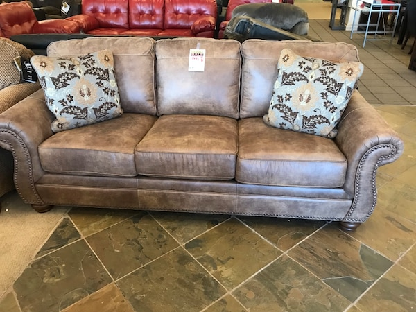 Ashley Larkinhurst Faux Leather Sofa Sleeper