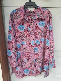 pink and blue floral button-up long sleeve shirt San Antonio, 78219