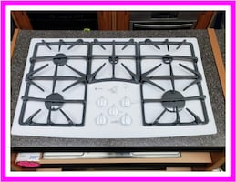 "Reconditioned GE Profile 36"" Built-In Gas Cooktop JGP970TEK2WW"
