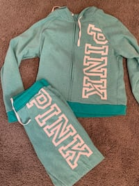teal and white PINK by Victoria's Secret sweatshirt Las Cruces, 88011