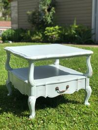 2'x2' Vintage blue distressed farmhouse side table
