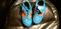 pair of blue-and-orange cleats Sudbury, P0M 1L0