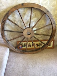 decorative wagon wheel Langley Township