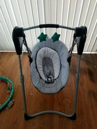 baby's gray and green swing chair Baltimore, 21225