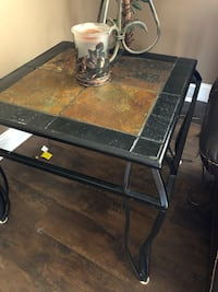 Very sturdy end tables with slate top