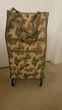 JADE Butterfly Tapestry Rolling Bag Shopping Tote Mount Holly