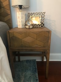 Target Tachuri Geometric Front Accent Table Brown- Opalhouse Charlotte, 28226