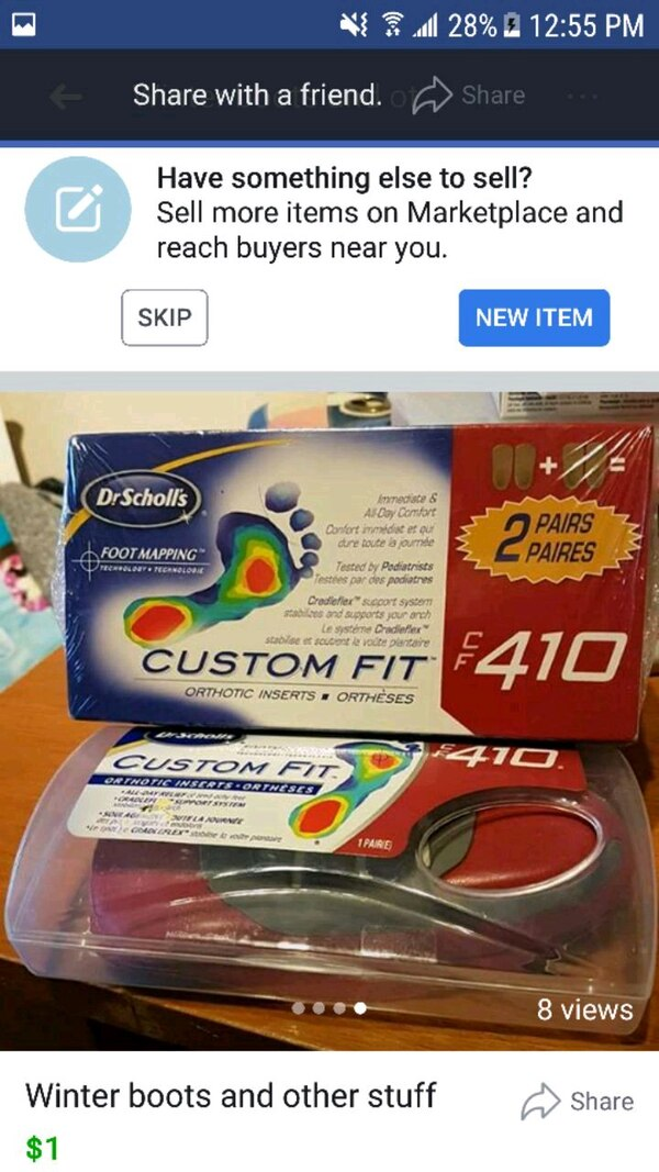 Used Dr. Scholl's Custom Fit foot mapping box screenshot for sale in Dr Scholl Foot Mapping on