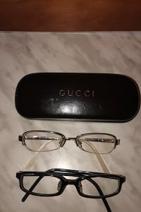 2 authentic Gucci eyeglasses frames unisex