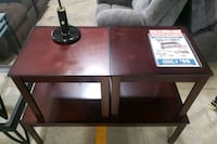 brown wooden table with black metal base Little Rock, 72209