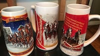 three red-and-white Budweiser beer steins Houston, 77018