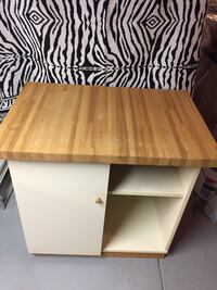 Butcher Block Cabinet With Shelving Woodstock, 21163