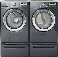 Gray front-load washer and dryer set Las Vegas, 89123