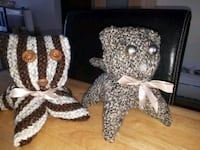 two brown and gray animal plush toys Laval, H7R 1P5