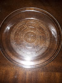 Retro Vintage GLASBAKE 8 1/2 INCH PIE PLATE, TEXTURED BOTTOM Good condition.