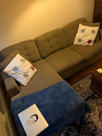 L shaped convertible sleeper couch