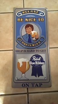 Pabst collectable rare tin sign Austin, 78705