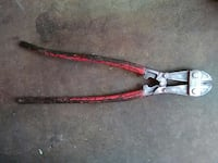 red, black, and gray bolt cutter