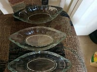 two round clear glass bowls Winnipeg, R2R 1H6