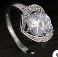 $8 NEW sz 7, 8 or 9 silver plated CZ heart ring  Ballwin, 63021