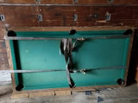 green and brown wooden pool table Norfolk
