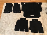 Jeep Wrangler Carpeted floor mats (all 5 including cargo area) Alexandria, 22314