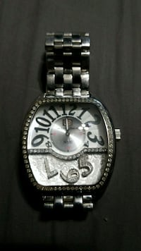silver-colored analog watch with link bracelet Baldwin, 21013