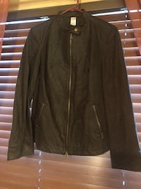 Brown leather jacket 68 km