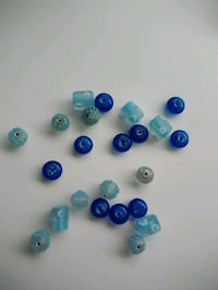 Assorted Lampwork Blue Glass Beads - Crafts Surrey, V3R 1T1