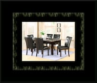 5pc dining table set with 4 chairs Ashburn