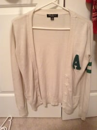 white and green long sleeve Burlington, L7L 5Y7