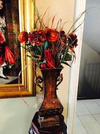 """Nice Faux Flowers with Vase 