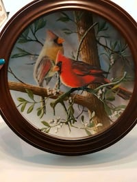 Cardinal picture plate in frame Bradford West Gwillimbury, L3Z 3G2