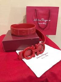 Red Ferragamo Belt  Kensington, 20895