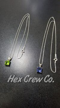 Green & Blue Crystal 925 Sterling Silver Pendants  Mississauga, L4Y 4G4