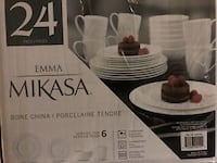 MIKASA 24 piece set! New in box! Never opened!  Ajax