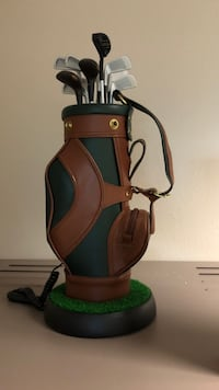 brown and green leather golf bag Salem, 97301