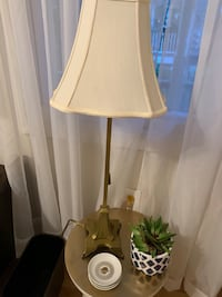 Tall chain pull lamp